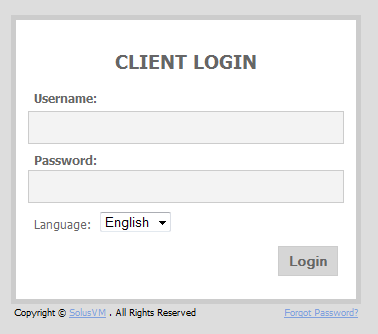 VPS Control Panel Login